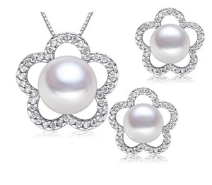 Sterling Silver Fresh Water Pearl Jewelry Gift Set