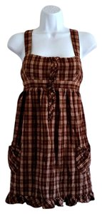 Mossimo Supply Co. short dress Brown Plaid Flannel 90s Grunge on Tradesy