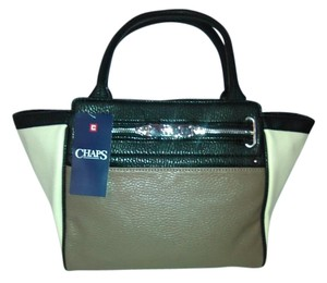 Chaps New With Tags Alexa Satchel in Brown,Black and Cream