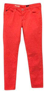 AG Adriano Goldschmied Skinny Pants Orange
