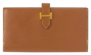 Hermès Hermes Bearn Courchevel classic long wallet.