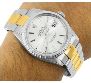 Rolex DateJust I Mens 2Tone Rolex Watch Stainless Steel/Gold Oyster Band