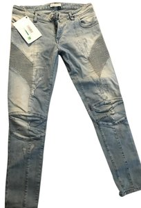 Balmain Denim Denim Skinny Jeans-Light Wash