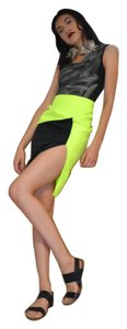 Rehab Color Small Skirt Lime Green Black