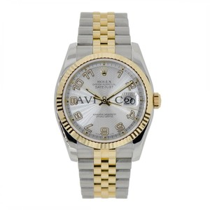 Rolex Rolex Datejust 36 Steel & Yellow Gold Watch Silver Concentric Dial