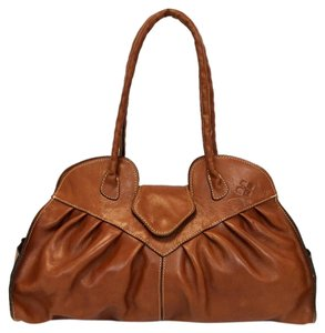 Patricia Nash Designs Heritage Large Lione Vegetable Tanned Leather Tote in Medium Tan