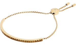 Michael Kors Michael Kors MKJ5796710 Crystals Gold Adjustable Slide Chain Bracelet