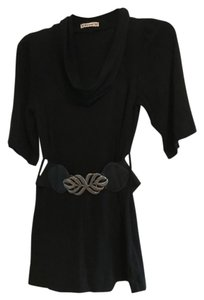 Forever 21 Belted Cowl Neck Leaves Tunic