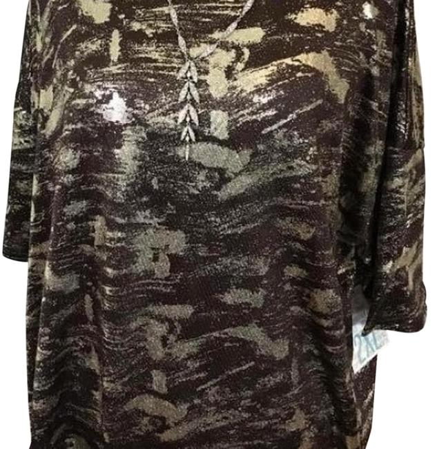 Item - Brown and Gold Xxs Elegance Collection Irma Tunic Size 00 (XXS)