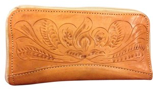 Paraguay Hand Tooled Carved Leather Zip Wallet