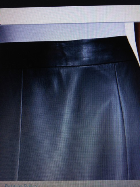 Worthington Grommet Size 10 Skirt Black Faux Leather Image 1