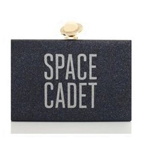 Kate Spade Over The Moon Jet Night Sky Glitter Clutch
