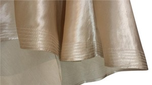 INC International Concepts Silk Knee Length Skirt Light gold
