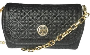 Tory Burch Quilted Bryant Marion Reva Cross Body Bag