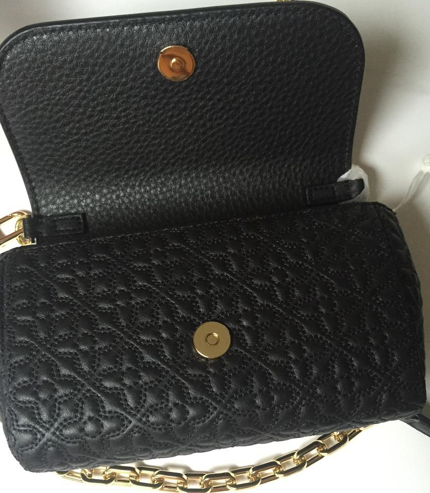 cd0e973a257c Tory Burch Bryant Small Black Quilted Leather Cross Body Bag - Tradesy