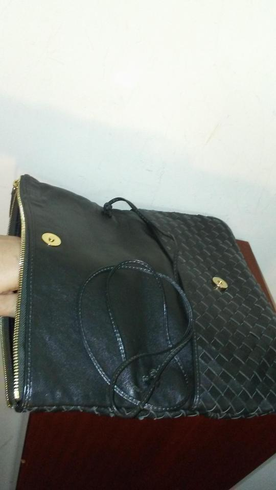 Suarez Made In Italy Woven Black Leather Clutch - Tradesy 8cd8e9461a283