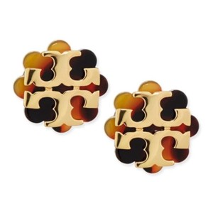 Tory Burch Logo Flower Reisin Earrings