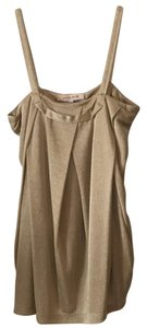 See by Chlo Top Metallic gold