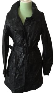 Romeo & Juliet Couture Faux Leather Long Moto Jacket Style # Are J21237