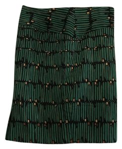 The Limited Print Limited Patterned Green Skirt Green Black