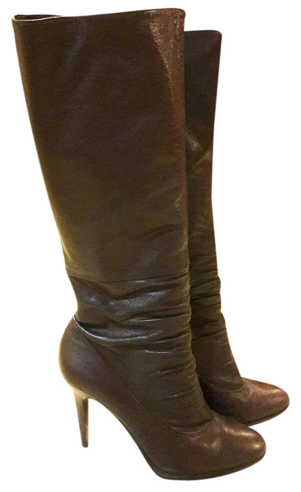 9b005069d52 Calvin Klein Brown Knee-high Leather Boots Booties. Size  US 9 Regular (M  ...