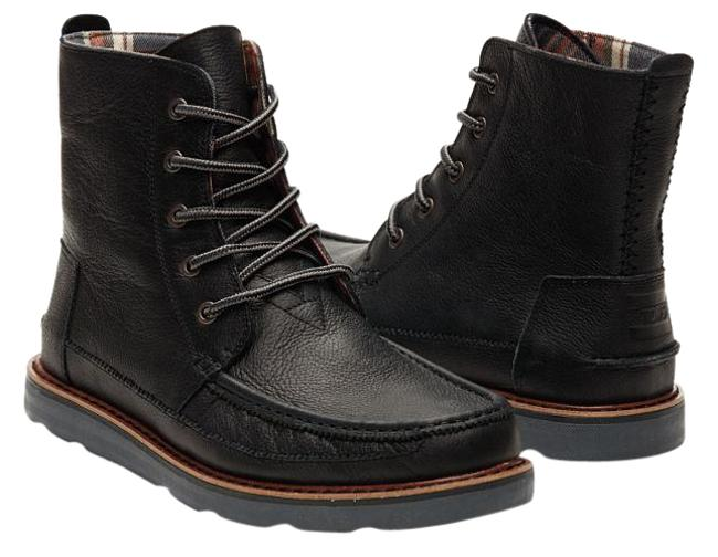 Item - Black Leather Men's Searcher Boots/Booties Size US 9.5 Regular (M, B)