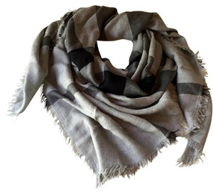 Burberry Chambray Check Square Scarf