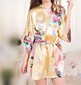 (7) Bridesmaids Kimono Robes In A Golden Yellow