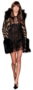 Emilio Pucci Leather Fur Runway Designer Italian Coat