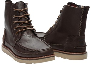 TOMS Men's Chocolate Brown Leather Boots