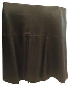 Vince Lambskin Leather Skirt black
