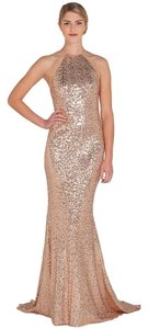 Badgley Mischka Evening Gown Ball Gown Sequin Designer Formal Dress
