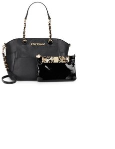 Betsey Johnson Sequin Satchel in Black