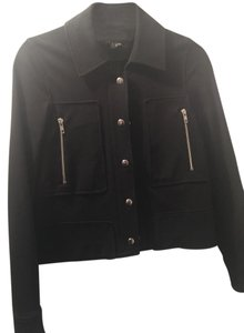 Theory Moto Silver Hardware black Jacket