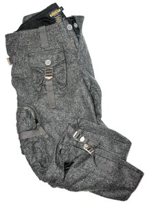 Ralph Lauren Cropped Wool Cargo Capris Grey