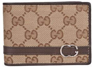 Gucci Gucci Men's 268508 Beige Canvas GG Guccissima Bifold Wallet