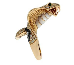 Other 4.70ct Diamond 18k Yellow Gold Cobra Ring Si1-si2 G-h