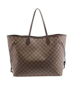 Louis Vuitton Coated Canvas Lv Tote in Brown