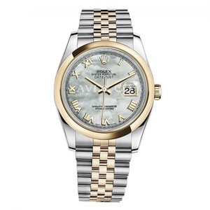 Rolex Rolex Datejust 36 Steel & Yellow Gold Watch Mother of Pearl Dial