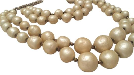 Other Vintage Baroque Pearl Bead Necklace and Bracelet Set-HEAVY on Chain