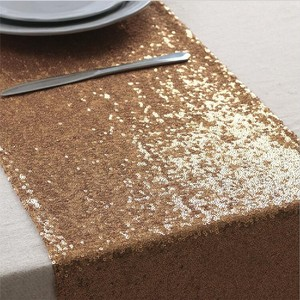 (10) Rose Gold Sequin Table Runners