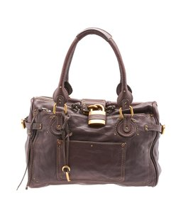 Chlo Vintage Leather Tote in Brown