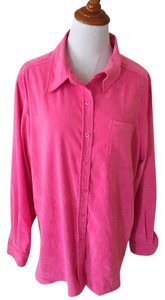 Denim & Co. Button Down Shirt Pink