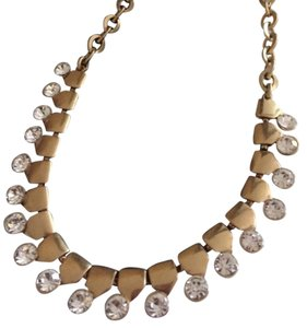 J.Crew NEW J. CREW NECKLACE WITH CRYSTAL DESIGN. COMES WITH POUCH