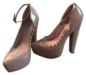 Jeffrey Campbell Party Patent Leather Nude Pumps