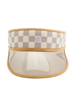 Louis Vuitton Louis Vuitton Blue & White Leather Hat, Size O/S (104645)