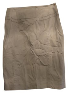 Express Pencil High Waisted Khaki Skirt Camel