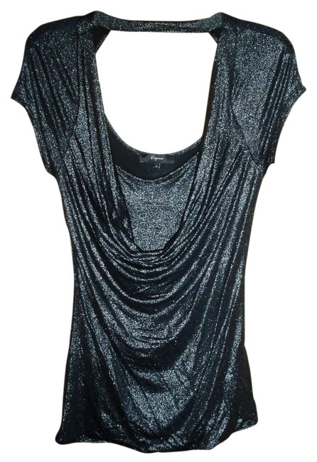 Preload https://item2.tradesy.com/images/express-charcoal-silver-night-out-top-size-8-m-202666-0-0.jpg?width=400&height=650