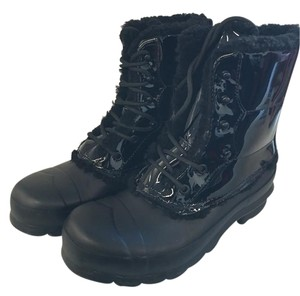 Hunter Lace Up Black Boots