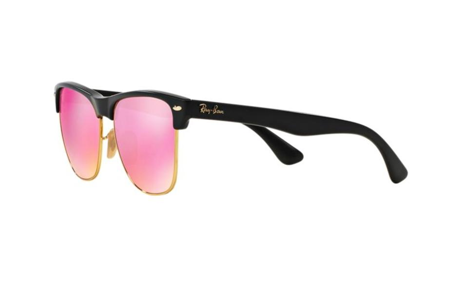 b0c72136822 Ray-Ban CLUBMASTER OVERSIZED FLASH LENSES RB4175 877 1M. Black With pink  Flash. 123456789101112